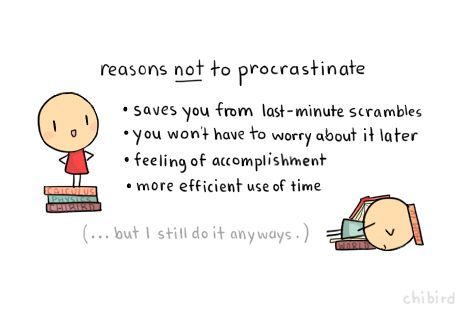 the reasons behind procrastination and its outcomes Over the last decades a considerable amount of literature has been published on  procrastination and its causes and consequences in different.