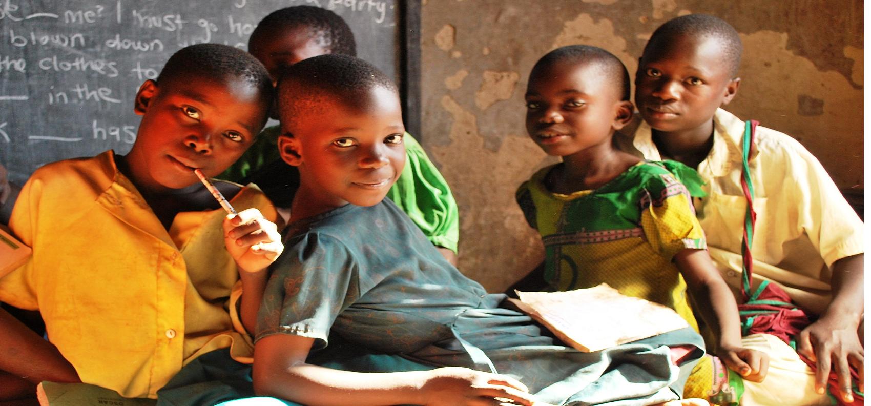 classroom in Africa, school in uganda