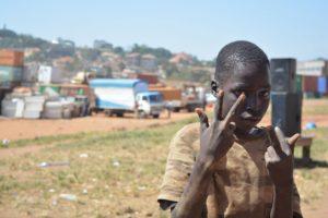 Street kid living in Kisenyi Slum Kampala UG