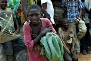 A ugandan boy living on the streets of Kampala